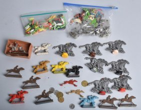 Huge Lot Of Race Horse Games Pieces