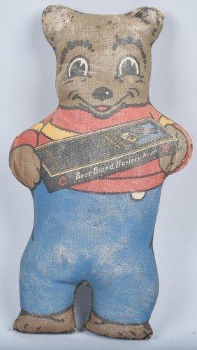 Bear Brand Hosiery Advertising Oil Cloth Bear