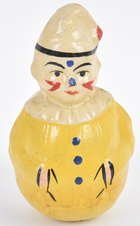Early PAPER MACHE CLOWN ROLY POLY