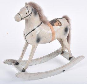 Early Paper Mache Horse On Rocker