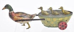 Lehmann Tin Windup Paak Paak Duck Cart