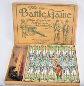 Early Parker Bros. The Battle Game W/ Box