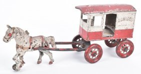 Kenton Cast Iron Horse Drawn Bakery Wagon
