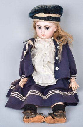 Antique Bisque Head Doll
