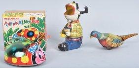 Three Tin Windup Toys