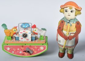 Two Tin Windup Toys