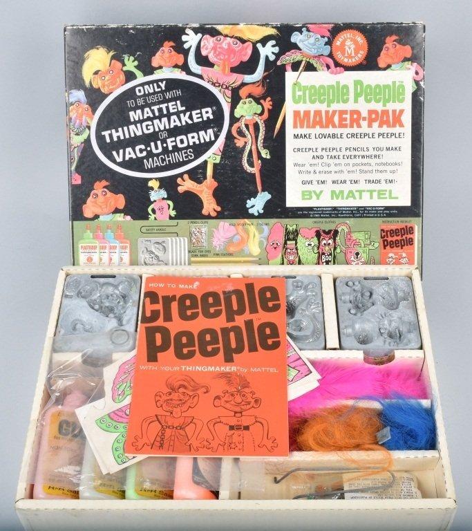 1965 MATTEL CREEPLE PEEPLE MONSTER MAKER-PAK MIB
