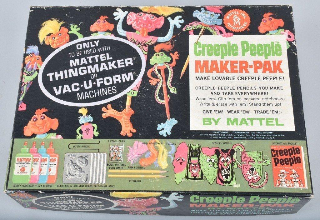 1965 MATTEL CREEPLE PEEPLE MONSTER MAKER-PAK MIB - 4
