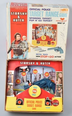 1977 Starsky & Hutch Keywind Target Range W/ Box