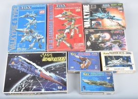 Japanese Space Models Lot Of 8