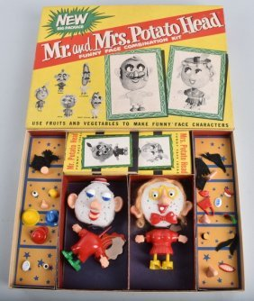 Mr And Mrs Potato Head By Hasbro No. 2004 W/box