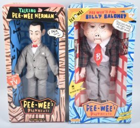 Pee-wee Herman And Billy Baloney Doll W/box