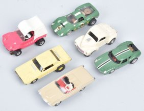 Vintage Aurora Ho Slot Cars Group Of 6