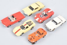 Vintage Ho Aurora Slot Cars Group Of 6