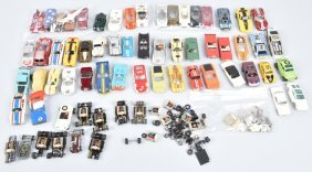 Large Lot Ho Slot Car Bodies, Parts And Misc.
