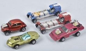 5-vintage Johnny Lighting Cars