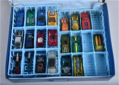 MATCHBOX CASE WITH 20 REDLINE HOT WHEELS