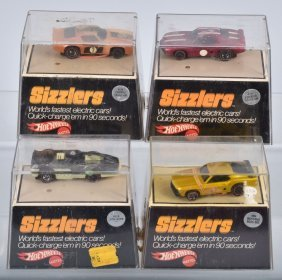 Lot Of 4 Sizzlers W/ Cubes Mustang Camaro Firebird