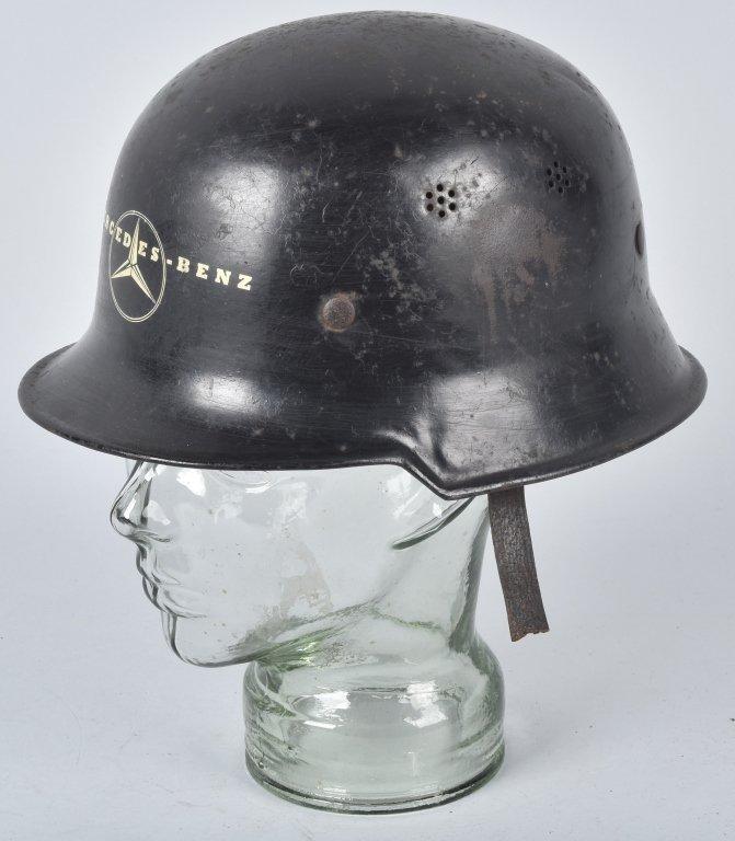 WWII GERMAN MERCEDES FACTORY WORKERS HELMET