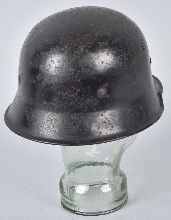 WWII GERMAN MERCEDES FACTORY WORKERS HELMET - 2