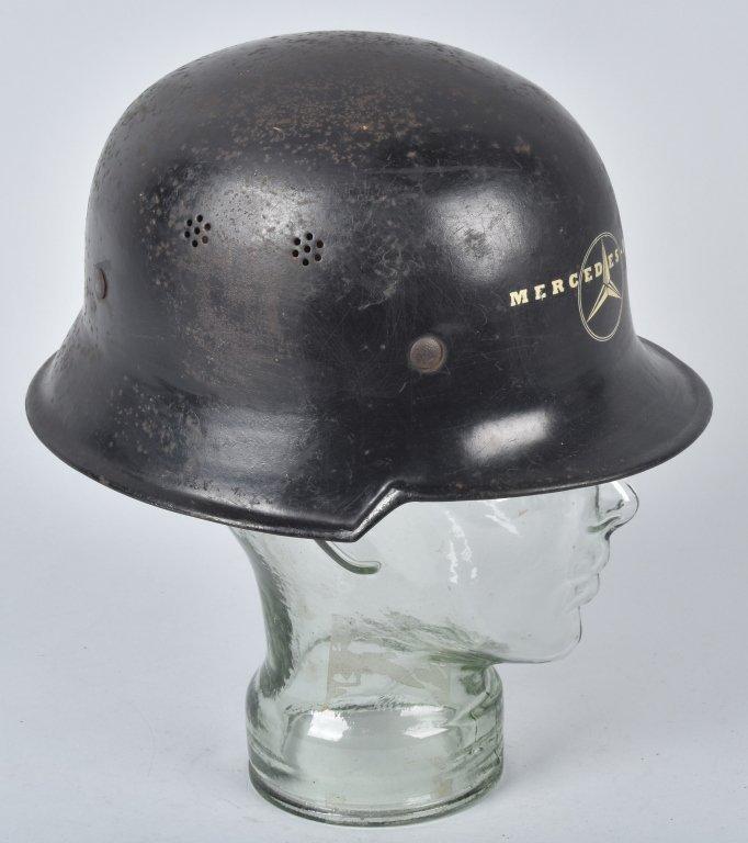 WWII GERMAN MERCEDES FACTORY WORKERS HELMET - 3