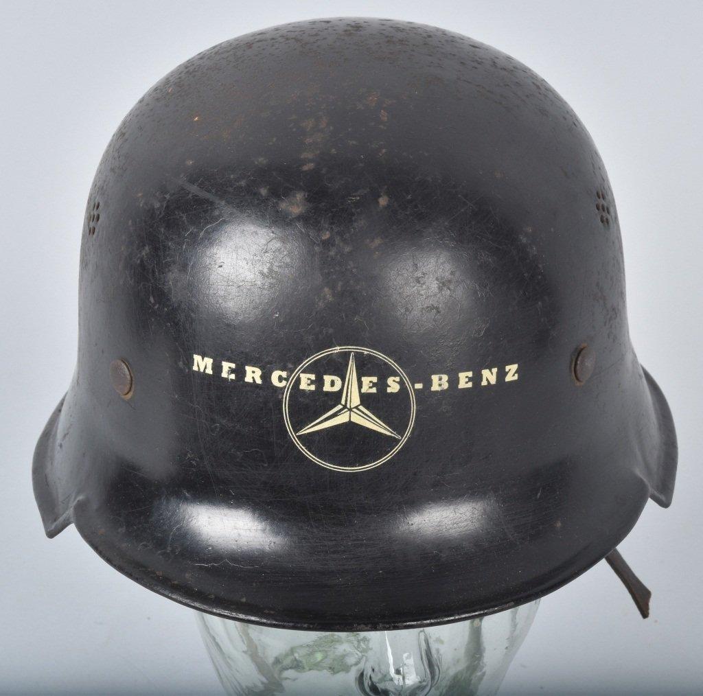 WWII GERMAN MERCEDES FACTORY WORKERS HELMET - 4