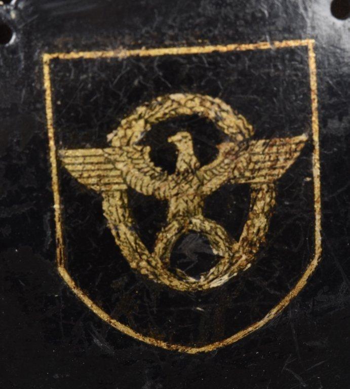 WWII GERMAN M-34 POLICE/ FIRE HELMET, NAMED - 4