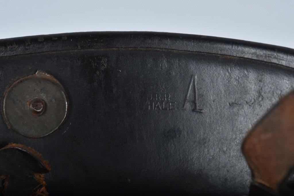 WWII GERMAN M-34 POLICE/ FIRE HELMET, NAMED - 7