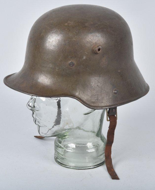 WWI GERMAN STALHELM M-16 HELMET & PAPERS