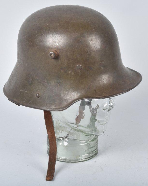 WWI GERMAN STALHELM M-16 HELMET & PAPERS - 3