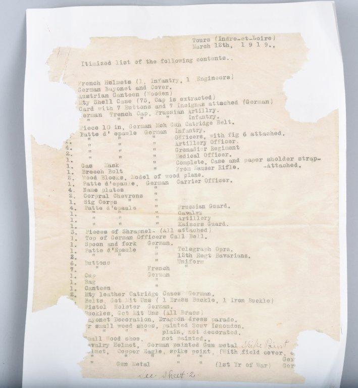 WWI GERMAN STALHELM M-16 HELMET & PAPERS - 5