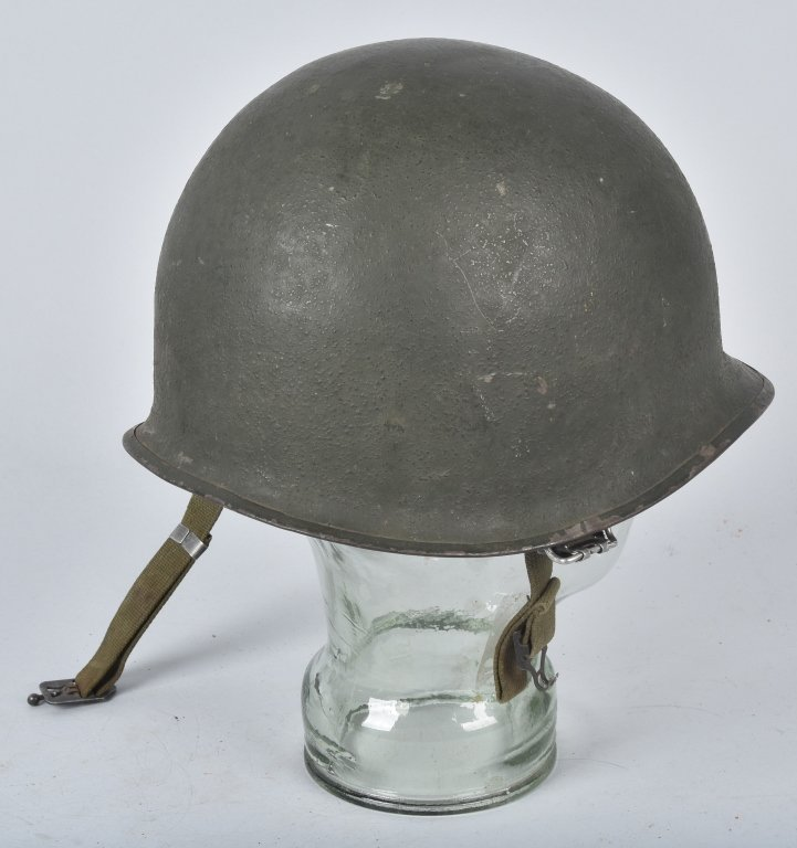 WWII U.S. M-1 HELMET and 3 LINERS - 2