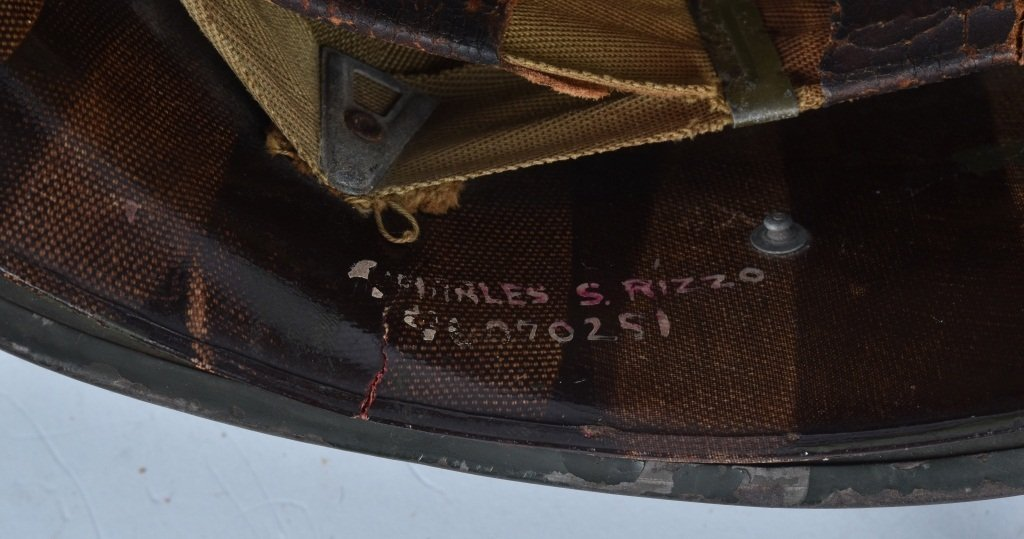 WWII U.S. M-1 HELMET and 3 LINERS - 5