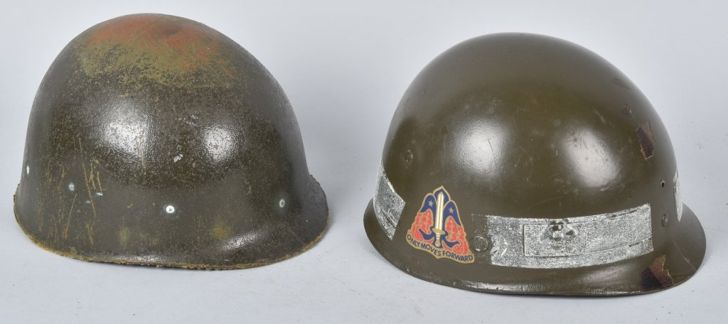 WWII U.S. M-1 HELMET and 3 LINERS - 6