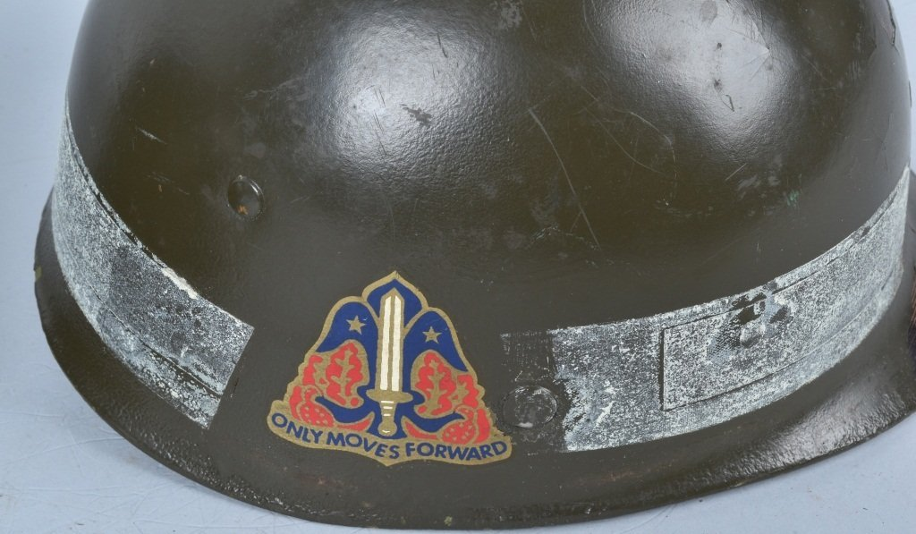 WWII U.S. M-1 HELMET and 3 LINERS - 7