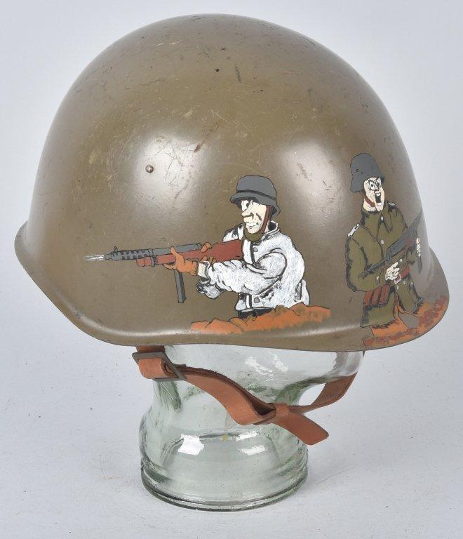 RUSSIAN HELMET, UNISSUED, with G.I. ARTWORK - 3