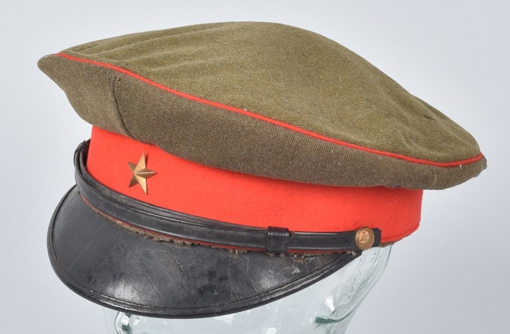 WWII JAPANESE OFFICER'S VISOR HAT, NAMED