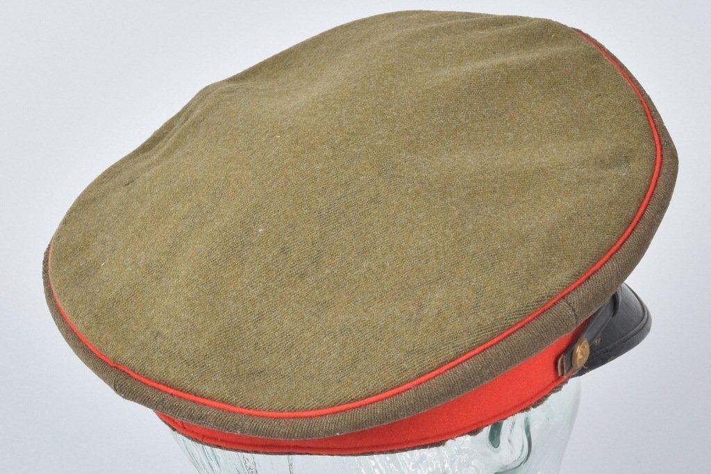 WWII JAPANESE OFFICER'S VISOR HAT, NAMED - 2