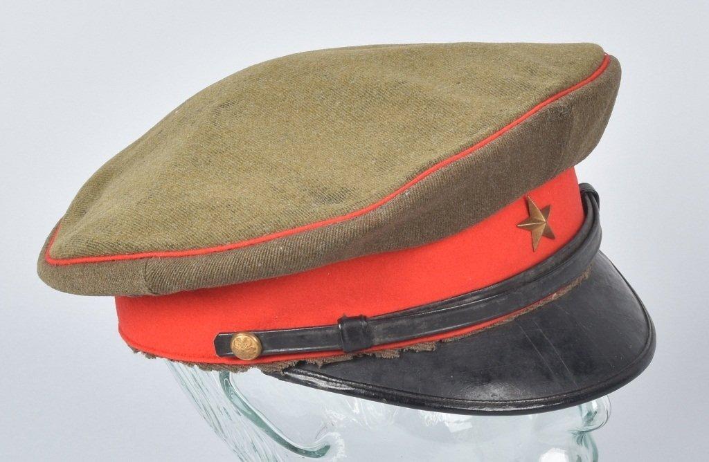 WWII JAPANESE OFFICER'S VISOR HAT, NAMED - 3