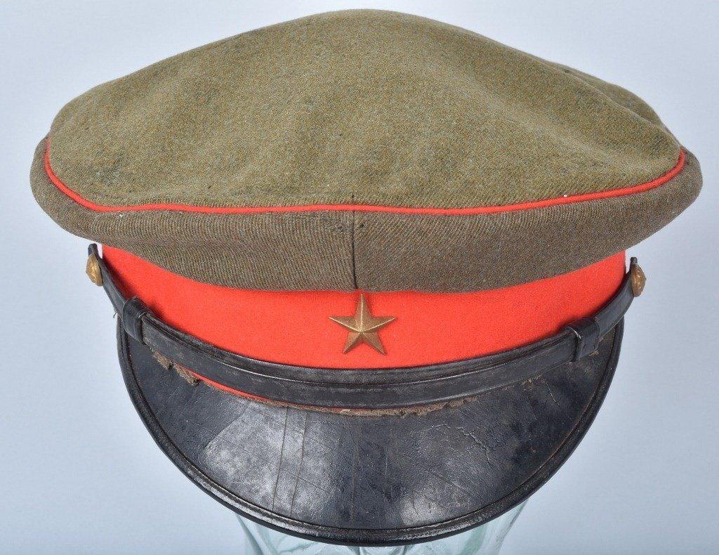 WWII JAPANESE OFFICER'S VISOR HAT, NAMED - 4