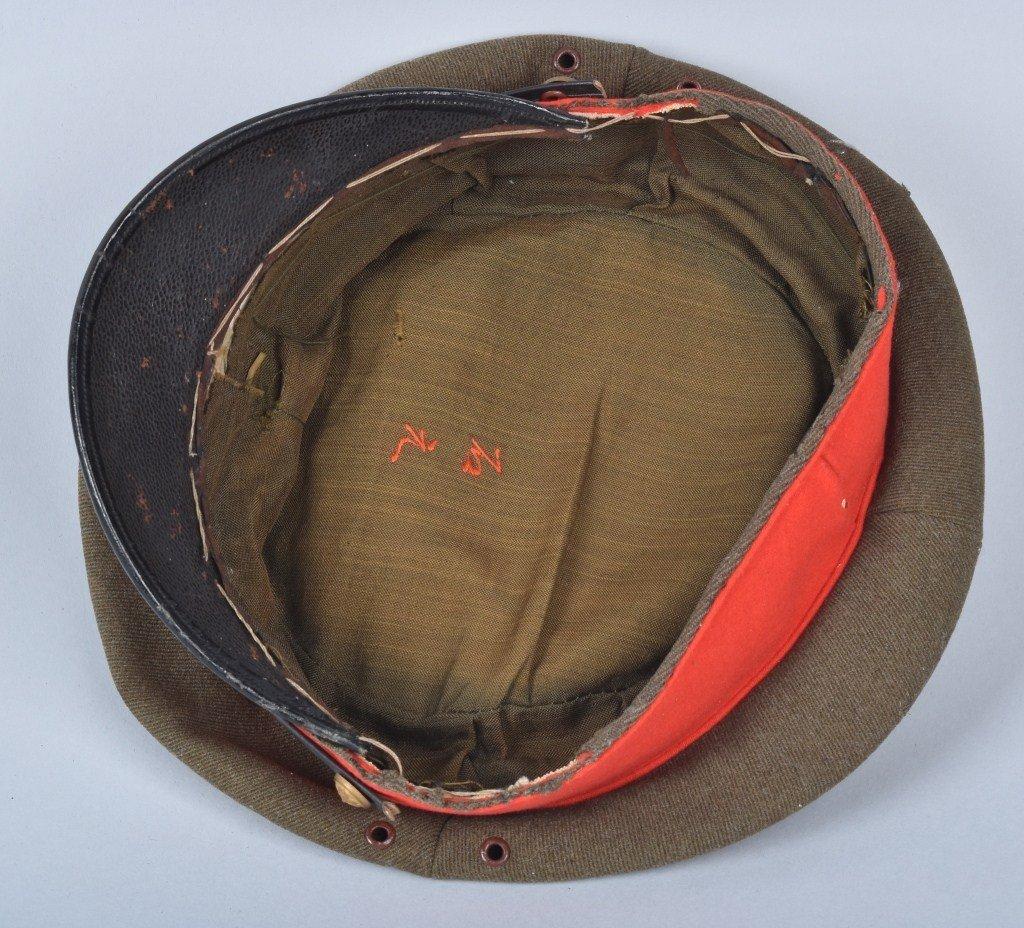 WWII JAPANESE OFFICER'S VISOR HAT, NAMED - 5