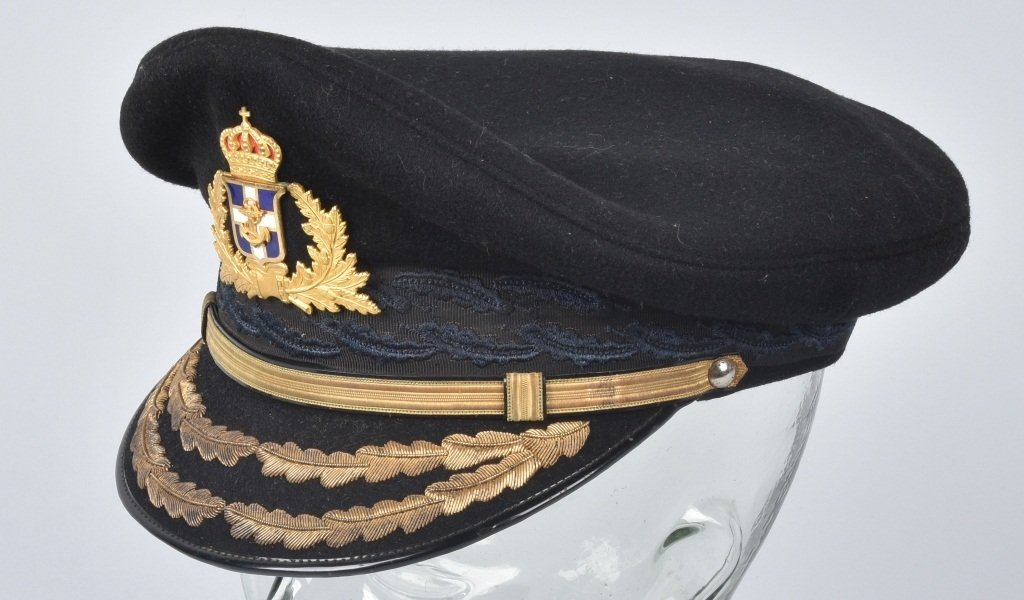 GREEK NAVAL GENERAL'S VISOR HAT