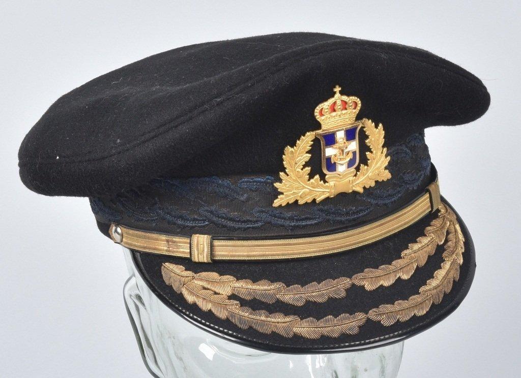 GREEK NAVAL GENERAL'S VISOR HAT - 3