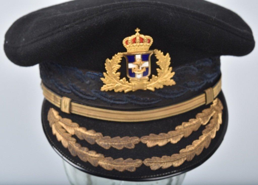 GREEK NAVAL GENERAL'S VISOR HAT - 4