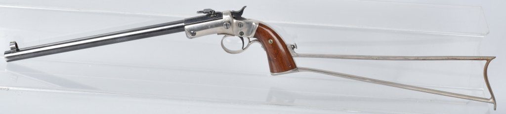 STEVENS .22 PISTOL with MATCHING STOCK - 2