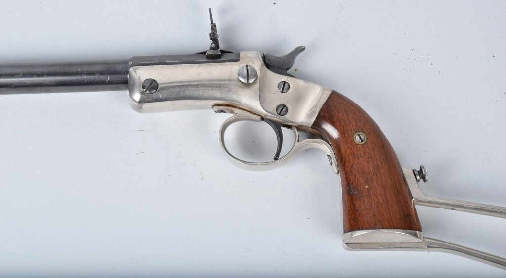 STEVENS .22 PISTOL with MATCHING STOCK - 3