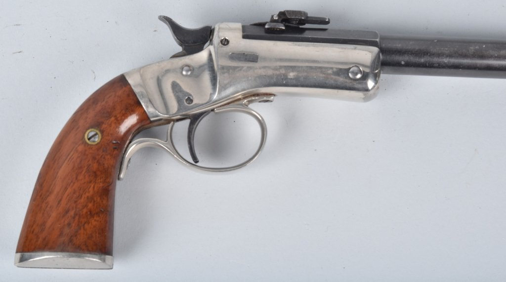 STEVENS .22 PISTOL with MATCHING STOCK - 4