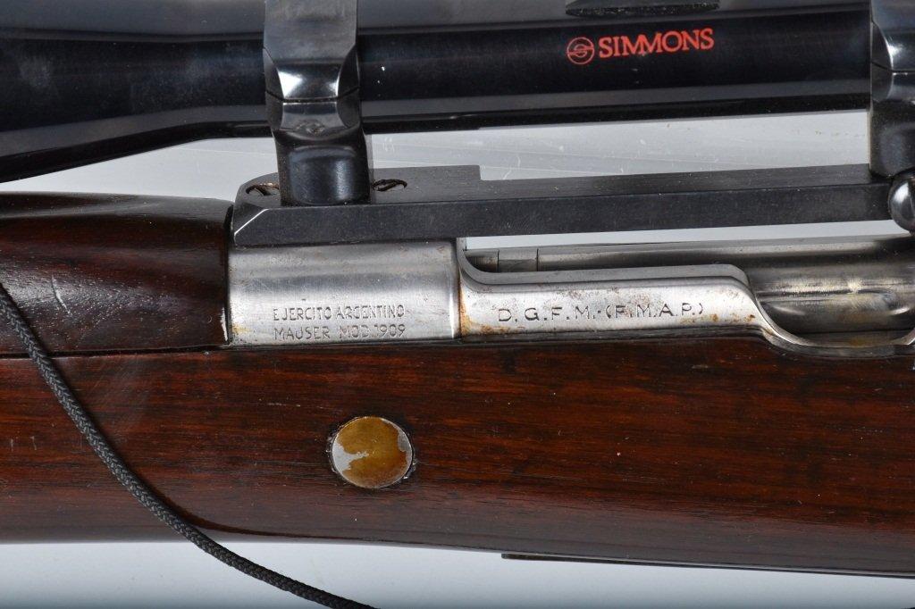 ARGENTINE MAUSER M1909 .765 X 53, with SCOPE - 6