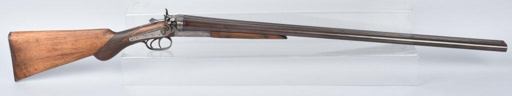 T. BARKER DOUBLE BARREL 12 GA. SHOTGUN - 4