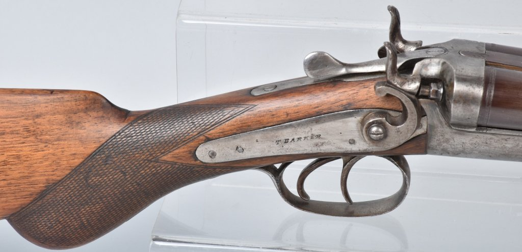 T. BARKER DOUBLE BARREL 12 GA. SHOTGUN - 5